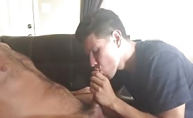 Blowing a straight daddy