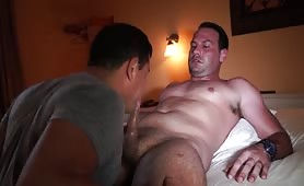 sweaty blowjob for tall and handsome latin guy1