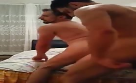 Straight pakistaní escort fucking his arab client