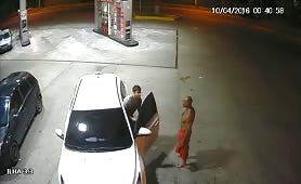 drunk police officer looking for someone to suck him in a gas station