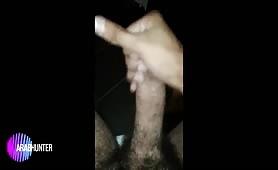 Milking my huge arab cock