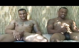 Two hot straight guy showing his body and huge cock on cam