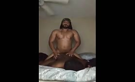 Hot jamaican escort banging a married black ass