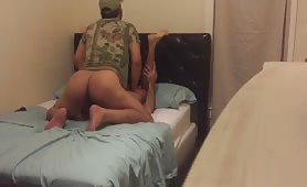 Horny str8 soldier came back for more