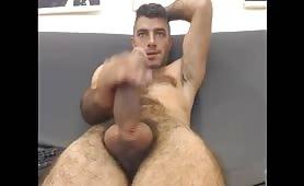 Cute Italian dude massaging his tasty sausage