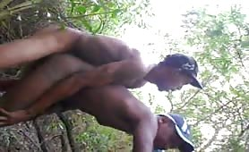 horny homeless fucks me  in the woods