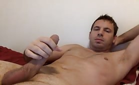 Bored married man masturbates in his room