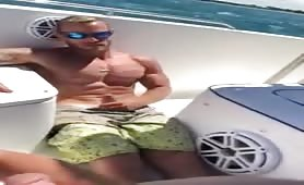 Friend Dared to Jerk off on boat he says he shoots a larger load