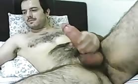 Thick cock daddy jerking off