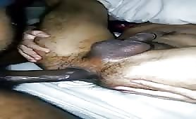 Straight big black cock makes my tight asian hole gape