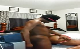 Straight black thug pounding that ass from the back