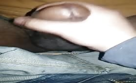 Homeless guy shows me his big black dick and I play with it