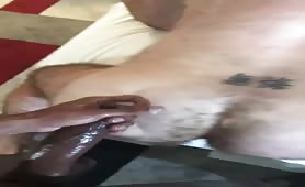Two married hairy ass being fucked by one monster cock nigga