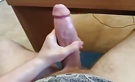 Massaging my hot monstercock
