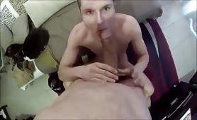 Sucking a tasty straight big cock