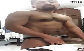 Cute straight guy masturbates with his toy