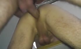Horny straight neighbor deposits his sperm in my hairy ass