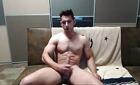 Sexy stud making his solo homemade video