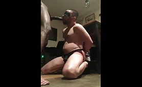 Some serious deepthroat with a str8 horse hung on a white boy