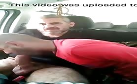 Straight horny daddy getting a nice blowjob in his car