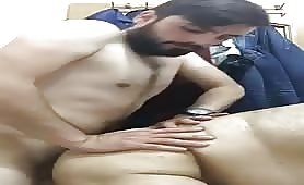 Straight married guy fucking his horny barber