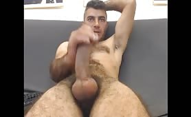 Sexy italian stud having a huge orgasm