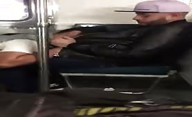 Sucking a straight stranger's cock on a train