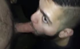 Straight curious college dude giving me a blowjob