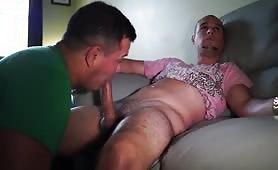Rough servicing a cute str8 puerto rican cock