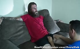 Bearded Straight Guy Gary Gets Sucked By A Gay For The First Time