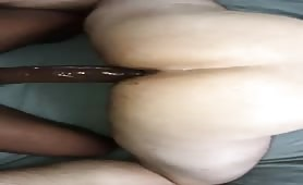 Straight uncut big black cock breeding my wet hole