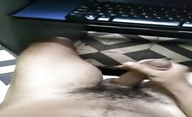 I got so horny watching porn so started stroking my cock in public
