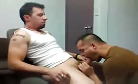 Eating a married guy whole load