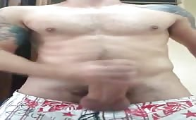 Thick and heavy str8 cock blows a load
