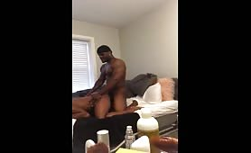 Str8 muscular nigga banging his roommate big butt