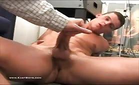 Hot straight european young dude gets a handjob