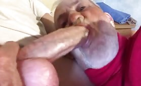 Grandpa does enjoy a huge white fat cock