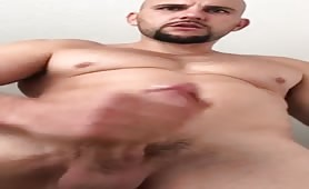 Big dick solo masturbation