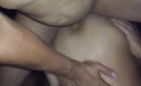 Monster cock Papi cums in his ass