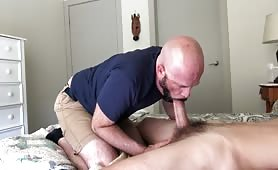 sucking off a nice big married straight dick