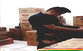 fucking the str8 delivery guy in the warehouse