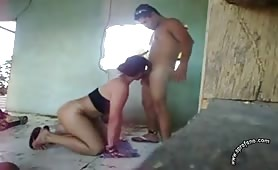Horny latino fucks his sister in law in an a bandoned house